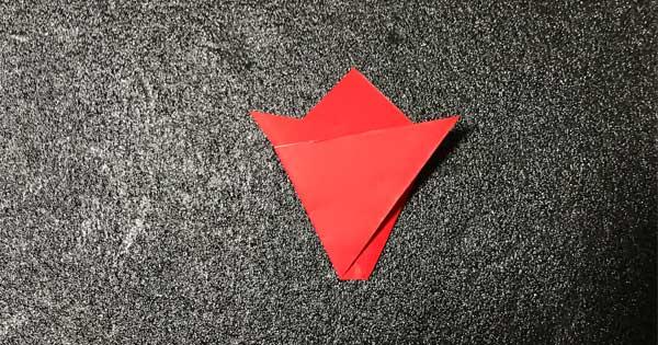 チューリップの折り方.4