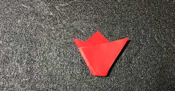 チューリップの折り方.5
