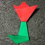 折り紙のチューリップの折り方【かわいい簡単な折り紙】