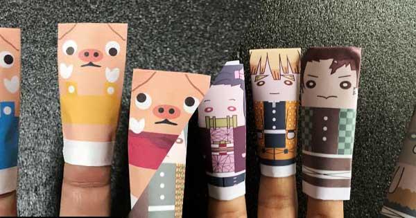折り紙で作る指人形の折り方