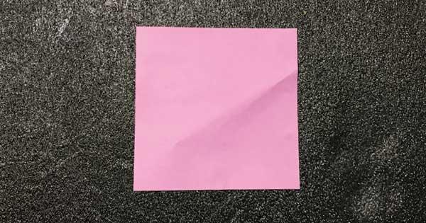 折り紙指人形「折り方.1」