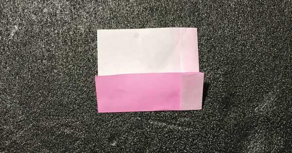 折り紙指人形「折り方.3」