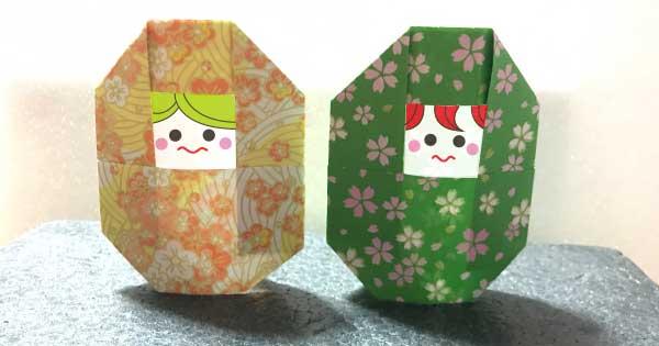 マトリョーシカの折り紙