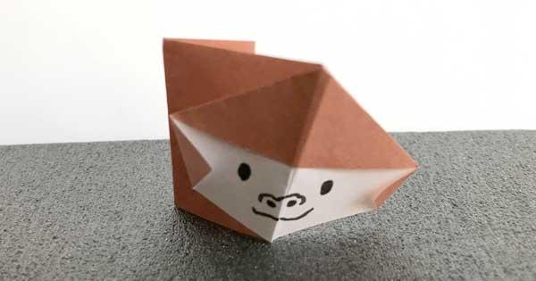 折り紙サルの完成