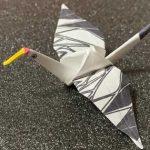 立体折り紙鶴の折り方|折り紙の折り方|How to fold Crane