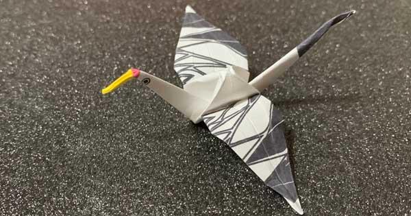 折り紙鶴アート