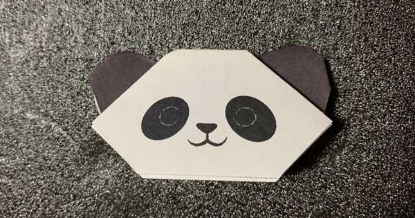 パンダの折り紙指人形