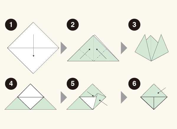 しおりの折り紙の折り方1