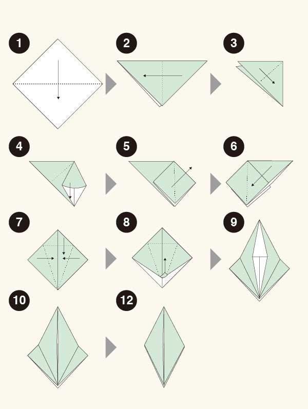 カマキリの折り方1
