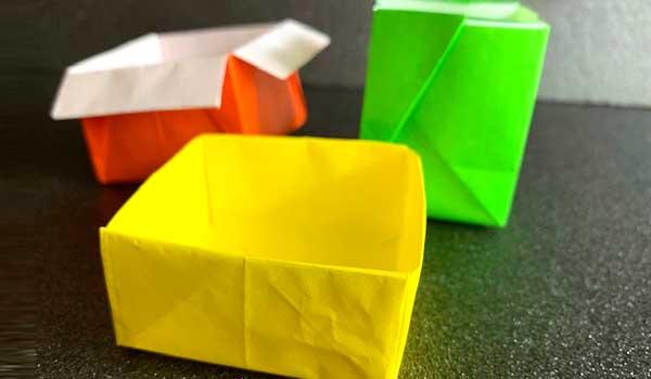 「折り紙 箱」 作り方・折り方(簡単)