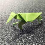 折り紙で作る「立体カマキリの折り方」