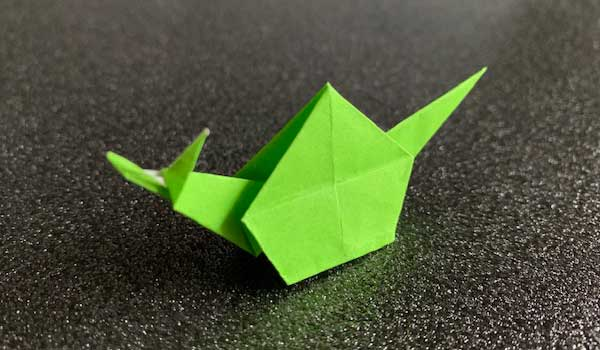 折り紙カタツムリ完成品