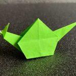 簡単カタツムリ・でんでん虫の折り紙の折りかた