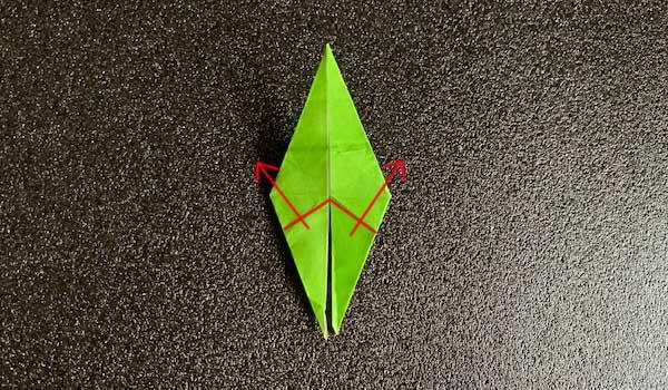 カタツムリの折り方1