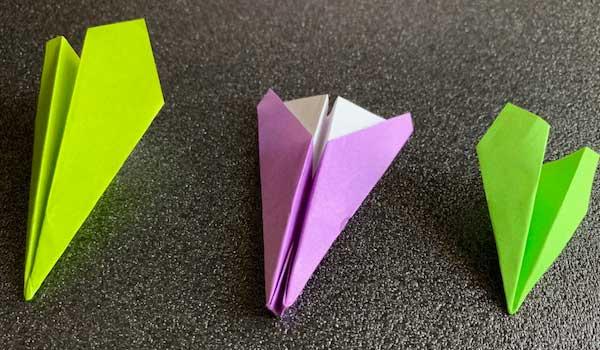 紙ヒコーキの折り方Part1完成品