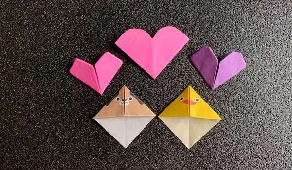 しおりの折り紙