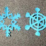 折り紙雪の結晶