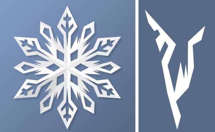雪の結晶切り紙3
