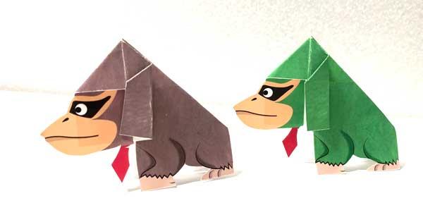 ドンキーコング折り紙