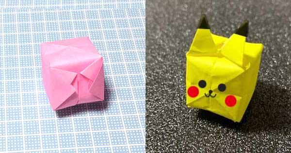 折り紙風船と風船ピカチュウ