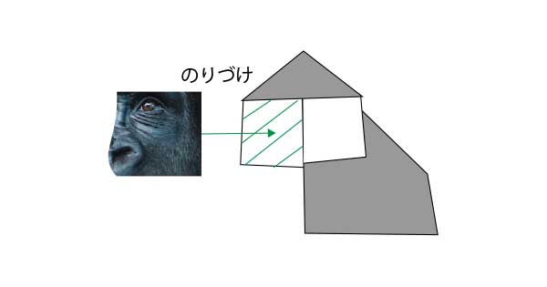 ゴリラのプリント折り紙の作り方