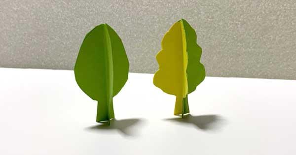 立体切り紙の木