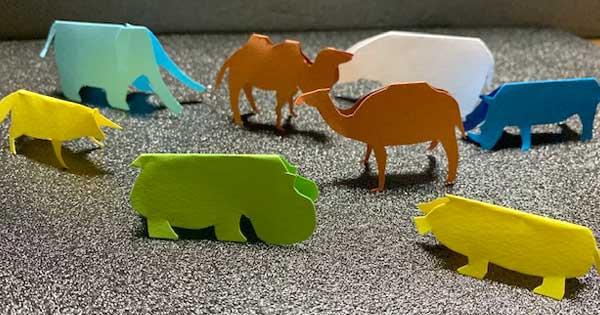 ハサミで簡単に作れるDIY 立つ切り絵・切り紙(動物編)