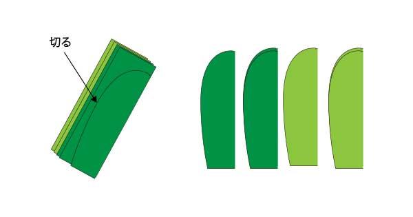 立体サボテンの作り方.3【簡単切り紙】