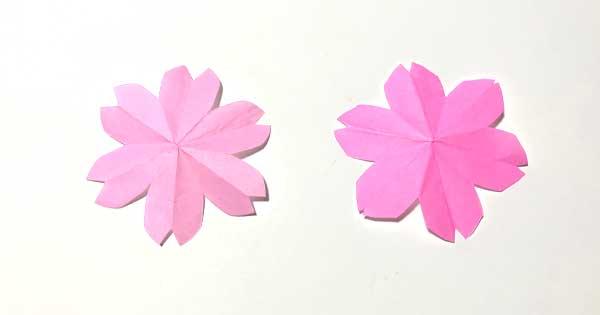 ハサミで簡単!桜の切り紙|型紙1