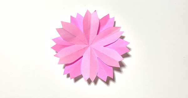 ハサミで簡単!桜の切り紙|型紙2