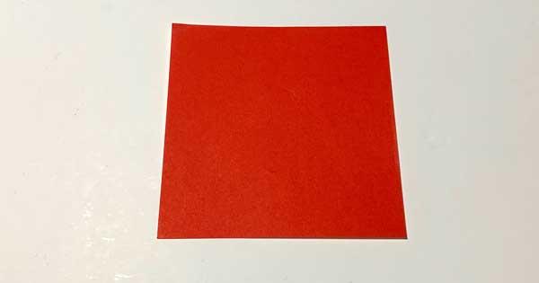 赤い折り紙用紙