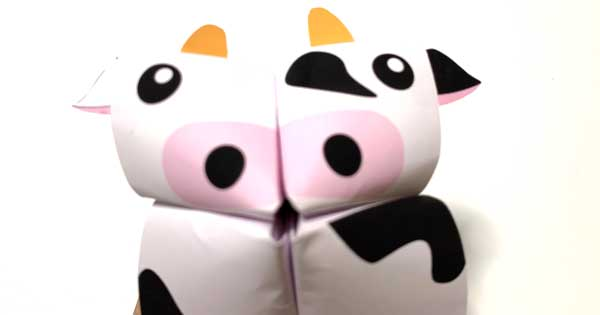 折り紙パクパク牛