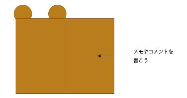 リラックマのメモカードの作り方 使い方