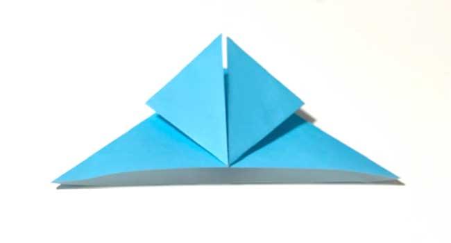 折り紙で簡単に作れる蝶の折り方6