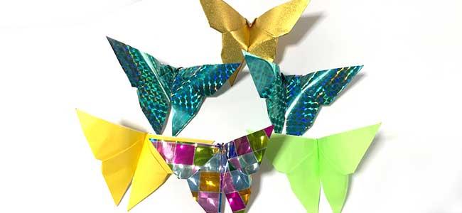 折り紙で作る蝶サンプル
