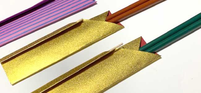【イラストで解説】おしゃれな折り紙箸袋の折り方