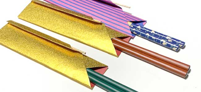 折り紙箸入れ
