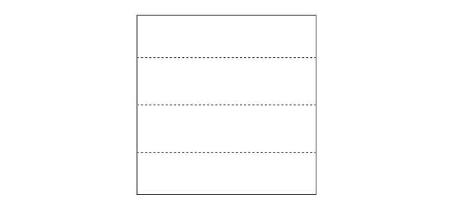 【写真で解説】おしゃれな折り紙箸袋の折り方1