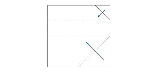 【写真で解説】おしゃれな折り紙箸袋の折り方2