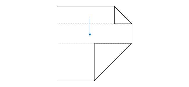【写真で解説】おしゃれな折り紙箸袋の折り方3