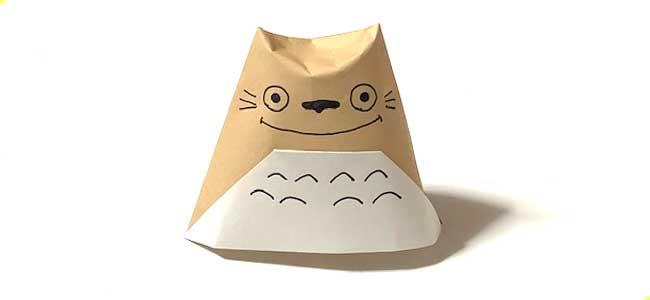 折り紙コップで作るトトロ