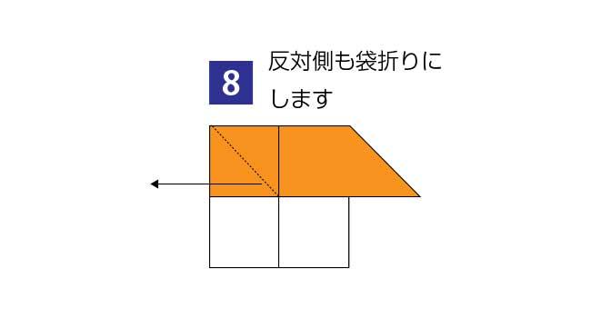 折り紙で作る簡単な家の折り方8