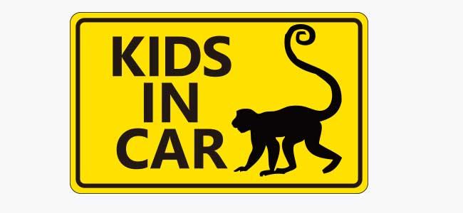 車用ステッカー「KIDS IFN CAR」Fタイプ