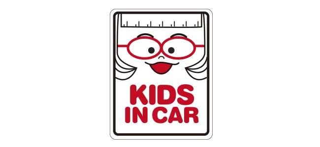 車用ステッカー「KIDS IN CAR」Bタイプ