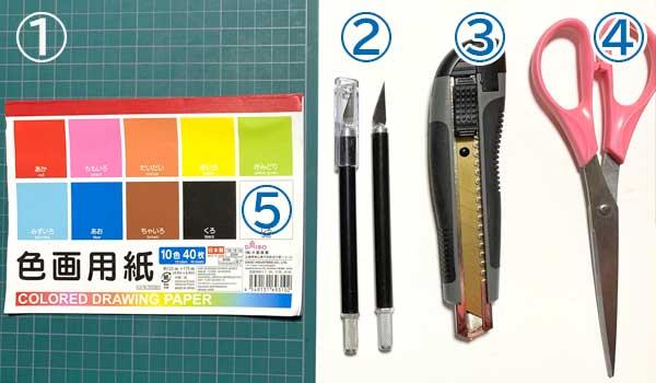 切り絵にあると便利な道具