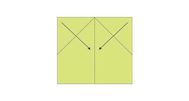 折り紙 簡単な鉛筆(えんぴつ)の折り方3