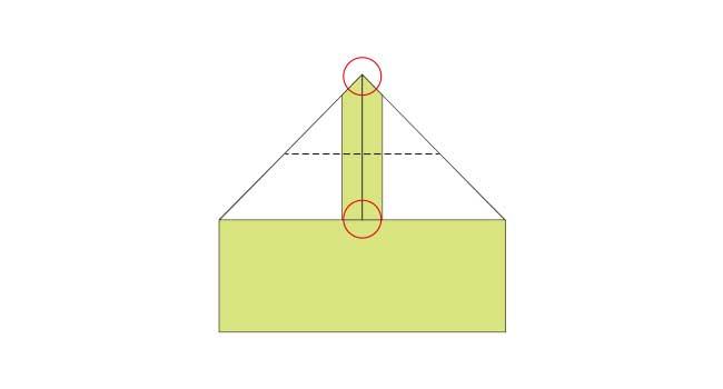 折り紙 簡単な鉛筆(えんぴつ)の折り方4