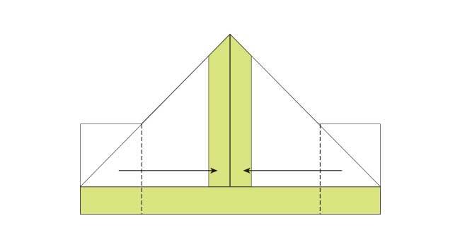 折り紙 簡単な鉛筆(えんぴつ)の折り方7