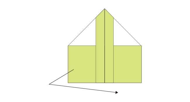 折り紙 簡単な鉛筆(えんぴつ)の折り方8