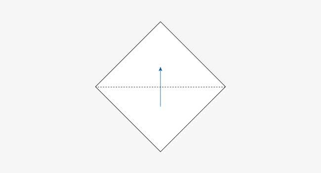 簡単!ウサギの折り紙の顔の折り方1